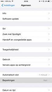 apps verwijderen