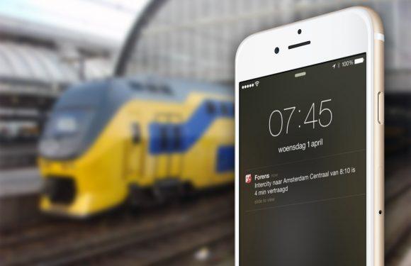 Handige ov-app Forens geeft notificaties bij vertragingen