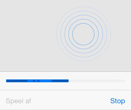 iOS trillingen maken