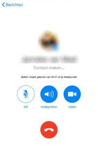 bellen met facebook messenger