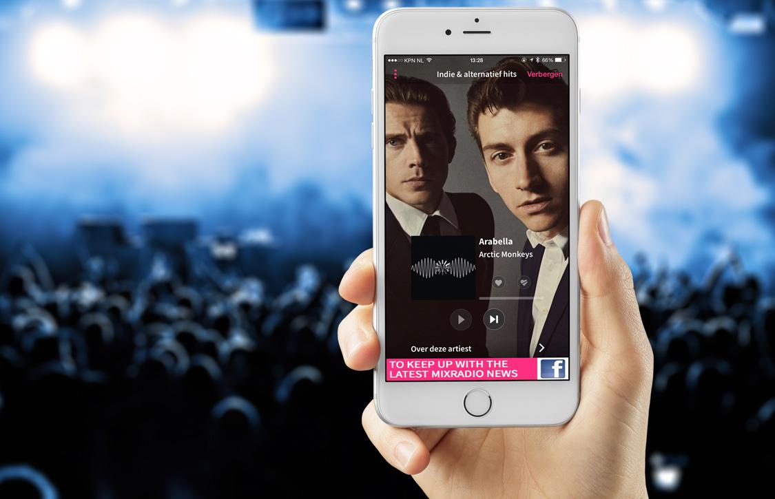Gratis en persoonlijke muziekdienst MixRadio gelanceerd op iOS