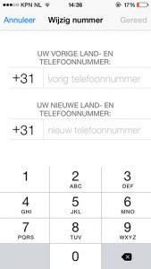 WhatsApp telefoonnummer veranderen