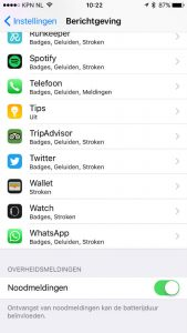 nl alert iphone instellen