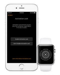 apple watch activeringsslot