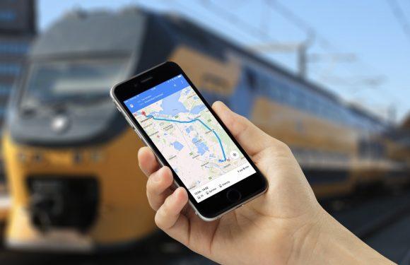Google Maps toont nu ook of je trein op tijd rijdt