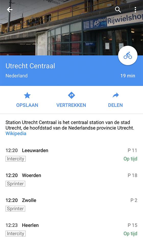 google maps openbaar vervoer k