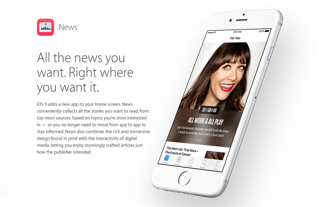 Apple komt met News: nieuwe nieuws-app in iOS 9