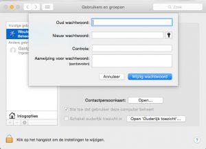 Mac wachtwoord
