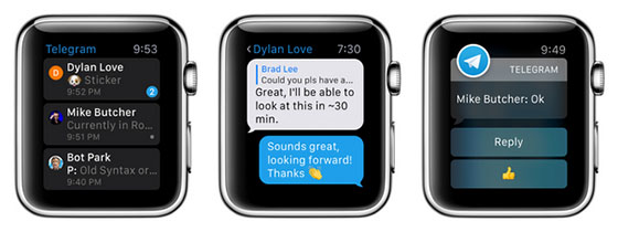 telegram apple watch