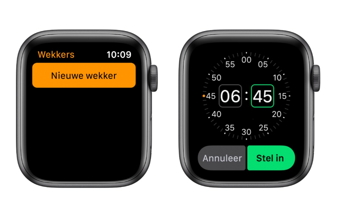 wekker apple watch
