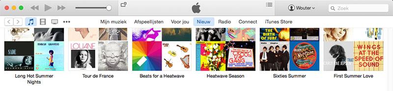 Apple Music Spotify afspeellijsten