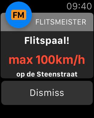 flitsmeister apple watch