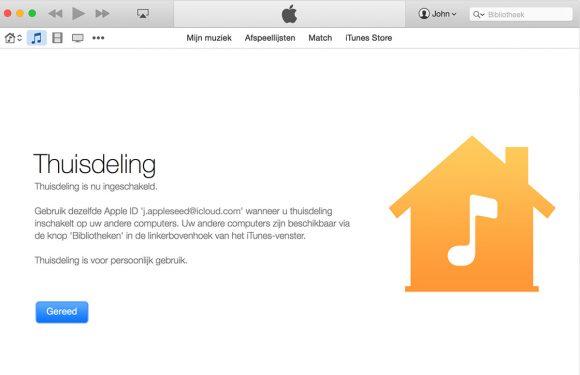 iOS 9 brengt thuisdeling voor muziek terug