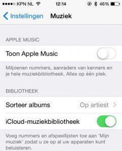 Apple Music verbergen