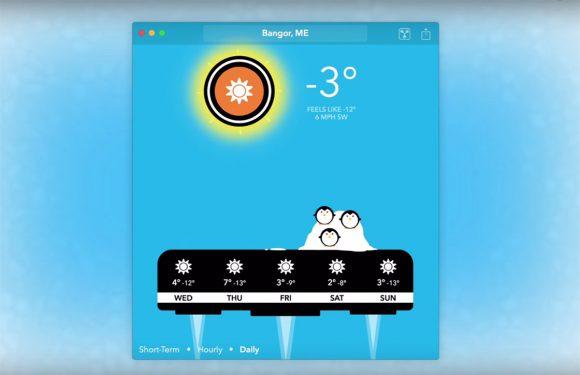 Carrot Weather: komische weer-app is er nu ook voor de Mac