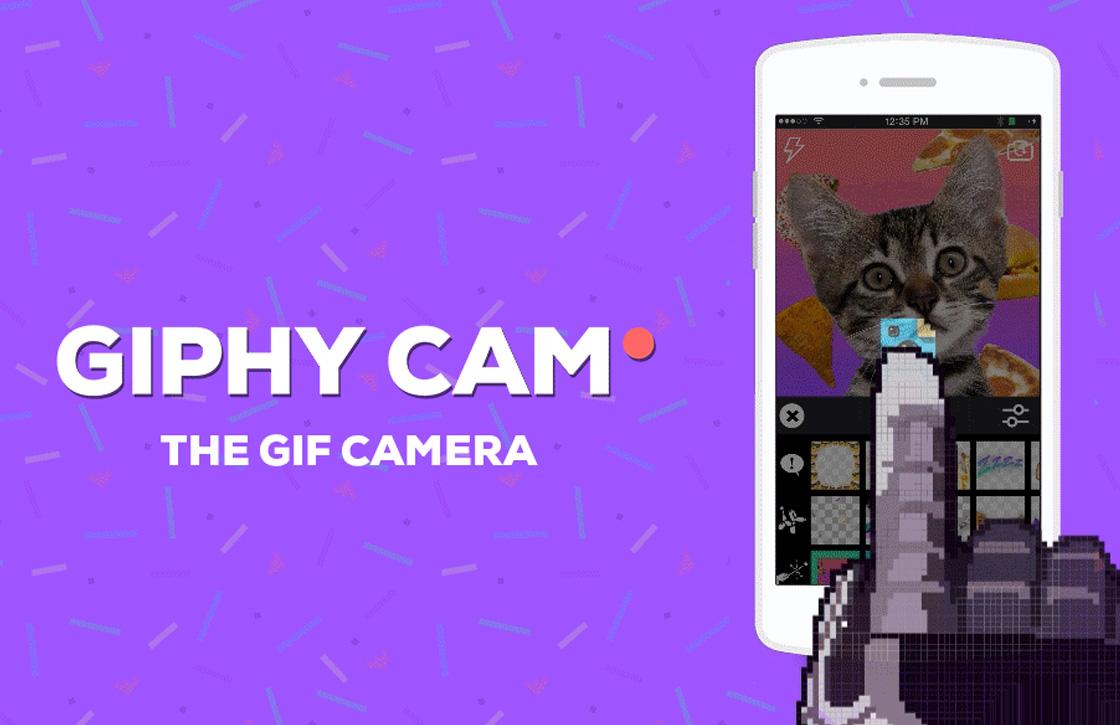 Giphy Cam laat je nu gifjes maken van video-opnames