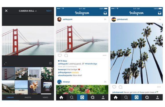 Instagram-foto's hoeven niet langer per se vierkant te zijn