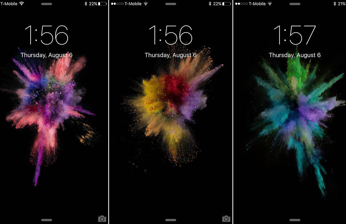 'iPhone 6S krijgt Apple Watch-achtige achtergronden'