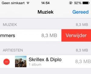 iPhone muziek verwijderen
