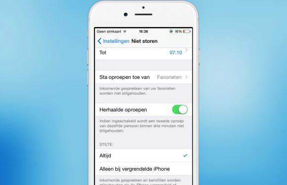 Tip: zo activeer je 'Niet storen' terwijl je je iPhone actief gebruikt