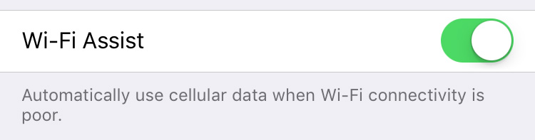wifi assist ios 9