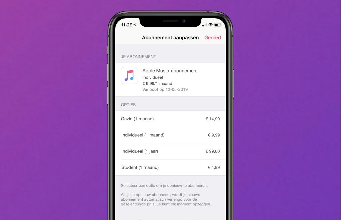 Apple Music opzeggen