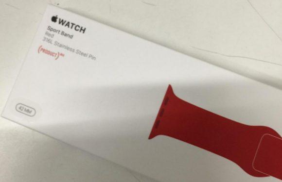 Nieuwe Apple Watch Sport bandjes in het rood, blauw en oranje