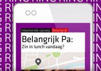 Vodafone Call+ toont urgentie, onderwerp en foto's bij telefoongesprekken
