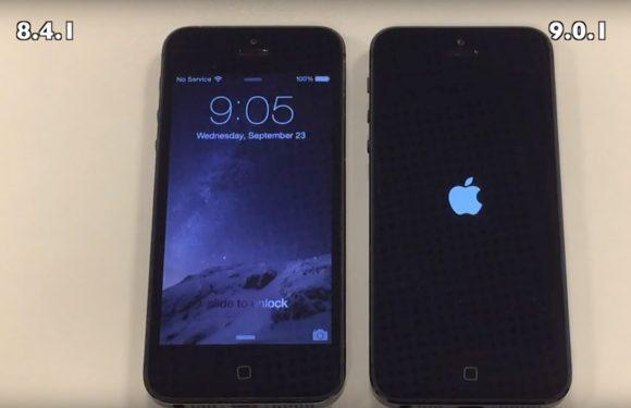 Video's tonen snelheid van iOS 9 op iPhone 4S, iPhone 5 en 5S