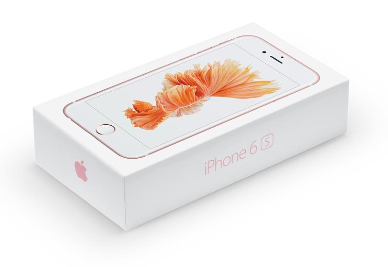 roze iphone 6s verpakking