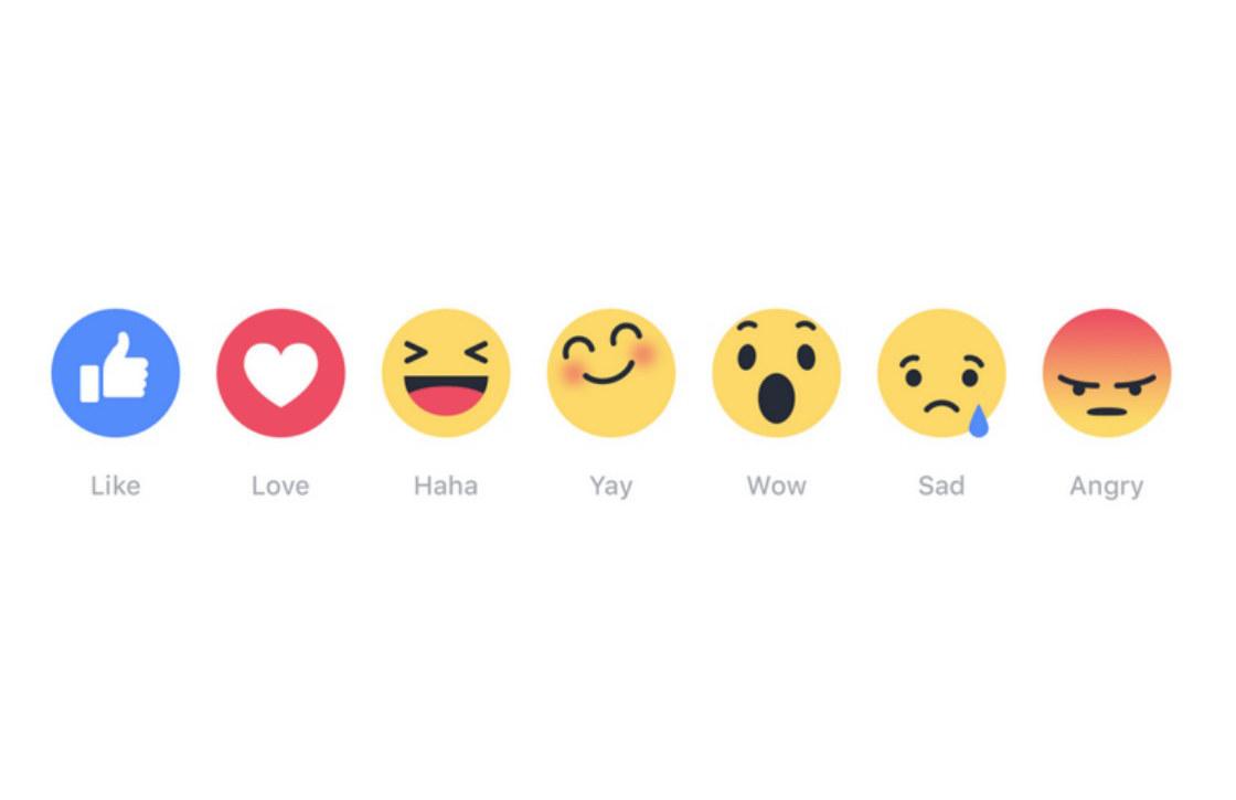 'Nieuwe vind-ik-leuk-reacties op Facebook nauwelijks gebruikt'
