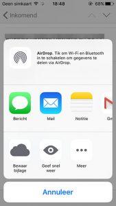 iOS 9 bijlagen