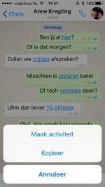 whatsapp markeren