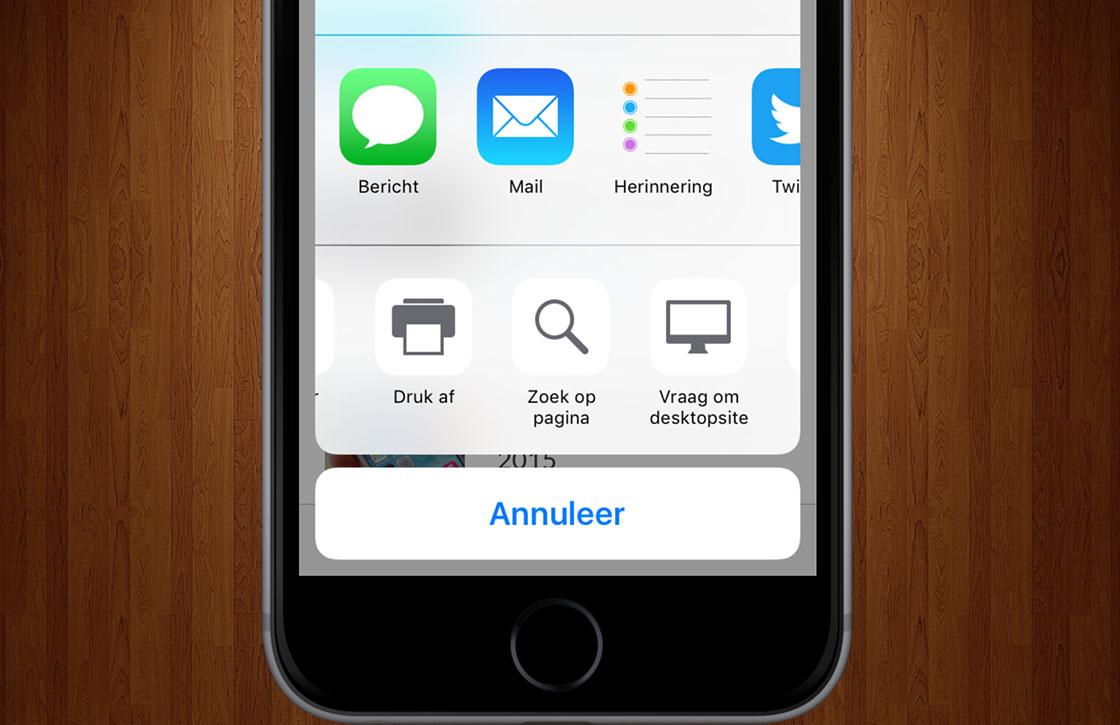 Zo zoek je sneller binnen webpagina's met Safari in iOS 9