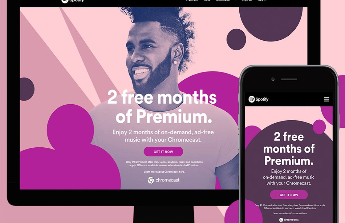 Chromecast-bezitters krijgen 2 maanden gratis Spotify Premium, zo werkt het