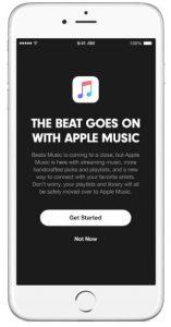 beats music stopt