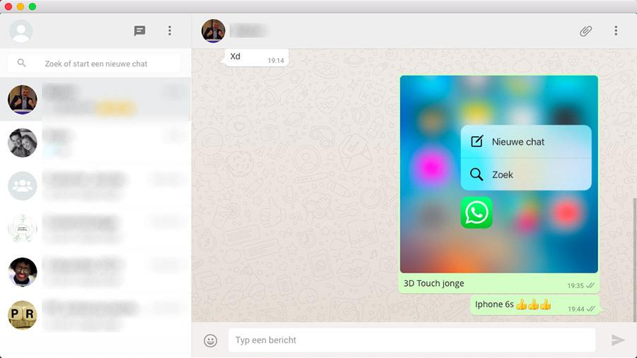 WhatsApp op je Mac