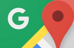 Google Maps drukte