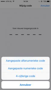 iOS 9 toegangscode