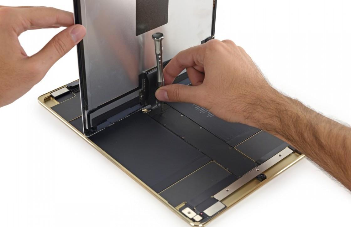 Moeilijk te repareren iPad Pro heeft relatief kleine accu
