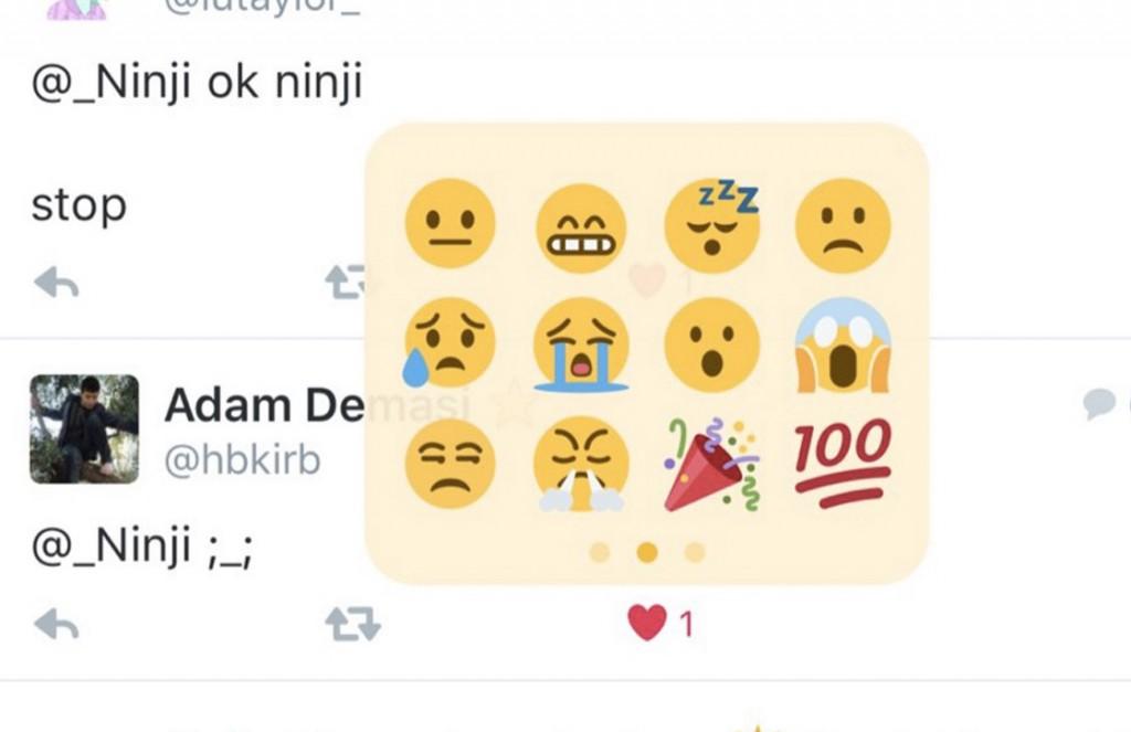 twitter emoji reacties