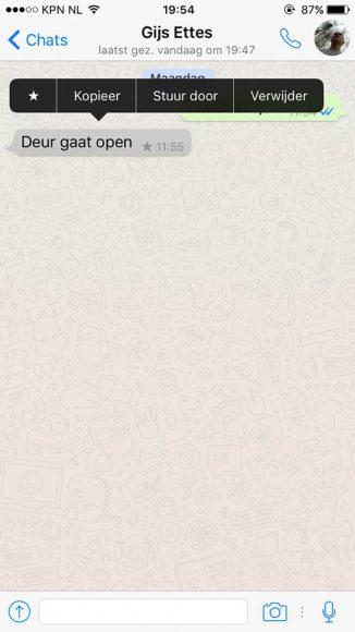 WhatsApp-berichten markeren