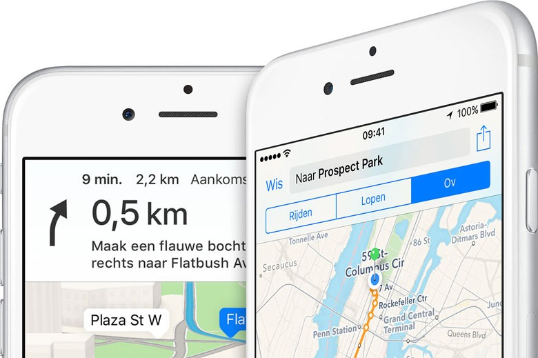 apple maps populair