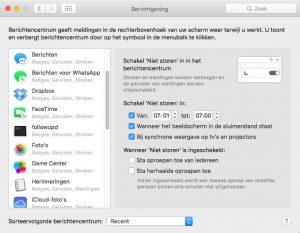 Berichtencentrum op Mac