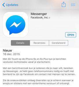 facebook messenger 3d touch