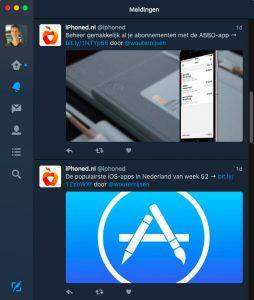 Twitter voor Mac update