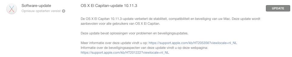 OS X El Capitan 10.11.3