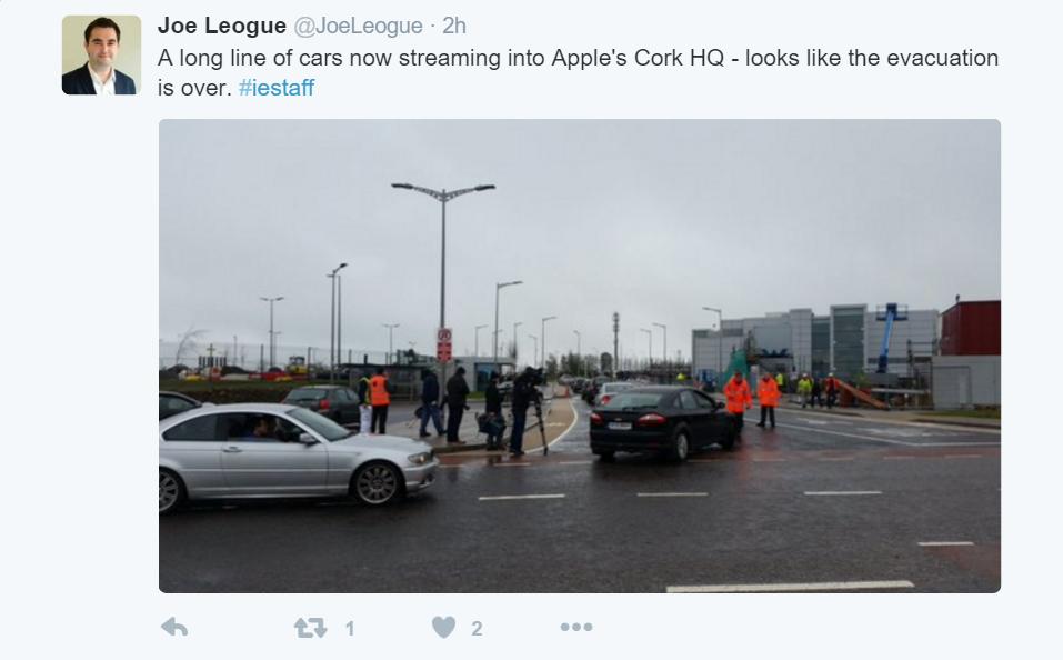 apple evacuatie