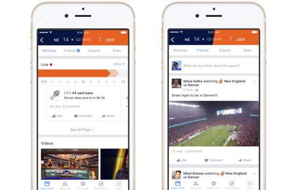 Facebook introduceert dienst voor sportevenementen