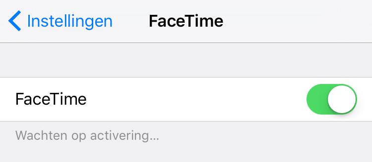 facetime instellen